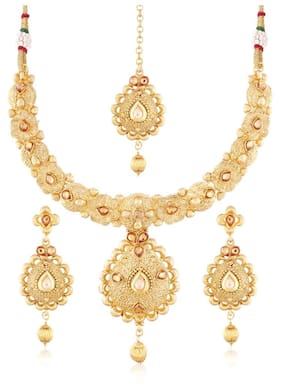 Etnico Traditional Jewellery Set with Maang Tikka for Women MS112