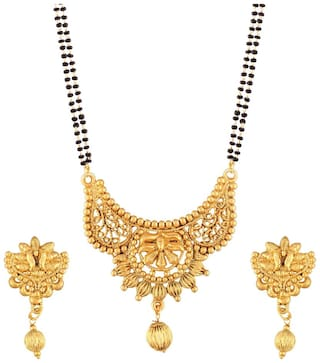 Buy Etnico Traditional Ethnic One Gram Gold Plated Mangalsutra