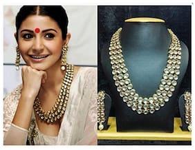 Etnico Traditional Gold Plated Kundan Jewellery Set for Women IJ301W (White)