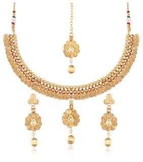Etnico Traditional Jewellery Set with Maang Tikka for Women MS120
