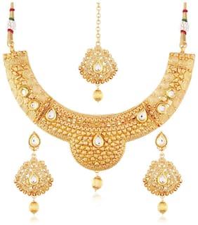 Etnico Traditional Jewellery Set with Maang Tikka for Women MS113