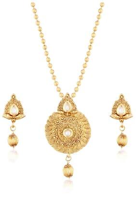 Etnico Women Copper and Austrian diamond Pendant set