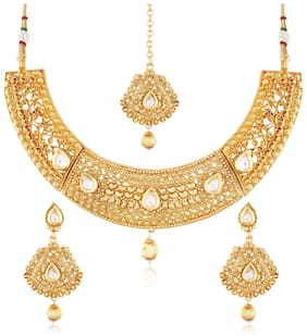 Etnico Traditional Jewellery Set with Maang Tikka for Women MS121
