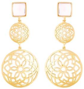 Etnico White Antique Dangle Earring For Women