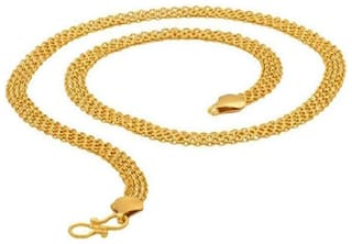 Ever Shine Snake Rope Gold Plated Chain for Men & Boys.