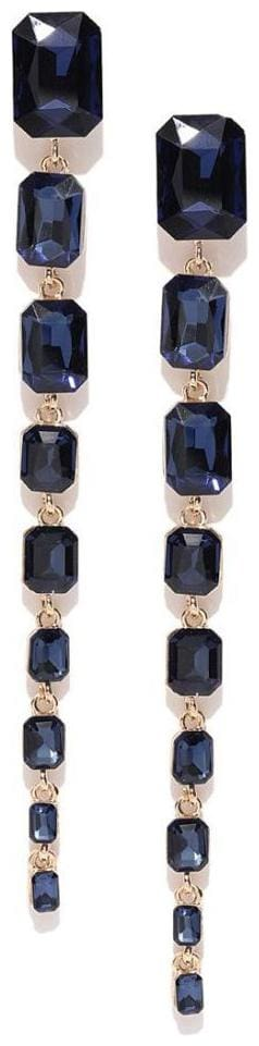 Exclusive Luxuria Sparkling Geometric Design Crystal 18K Rose Gold Plated Glistening Drop (Assorted)