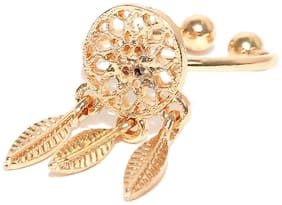 Fabula Jewellery Gold Tone Dream Catcher Adjustable Fashion Rings For Women & Girls