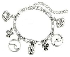 Fabula Jewellery Antique Silver Bohemian Charm Anklet