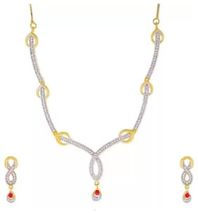 Fabulous Gold Plated Necklace Set For Women