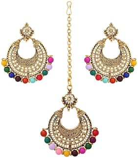 Fanddc Women Maang Tikka Earring