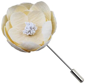 Fashion for Sure New Design high Quality Indian Material Rolls Flower Garment Brooch pin (JB026)