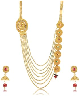 Fashion For Sure Gold Plated Multi-Strand Necklace Set for Women (N87)