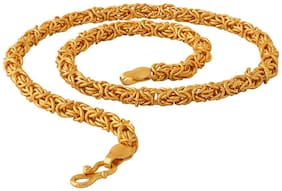 Fashion Frill Trendy And Fancy Bold Link Hand Made Design Double Coated For Men/Boys Gold-plated Plated Brass Chain