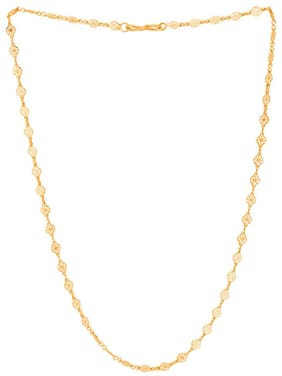 Fashion Frill Fashion Frill Trendy And Fancy Ashoka Design Double Coated Light Weighted Chain For Girls / Women Gold-plated Plated Metal Chain