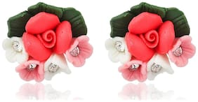 Floral Bunch Stud Earrings for Wo Girls