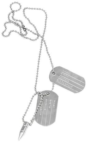 Gadget Deals Military Locket Dog Tag Chain Alloy Pendant