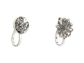 german silver boho tribal look vintage style nose pin (pack of 2)