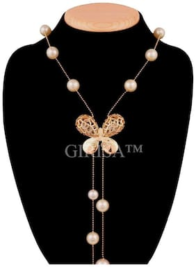 GIRISA Fashion Jewelry Stylish Pendants for Girls with Long Chain Pendent Party Western Wear Necklace For Women & Girls