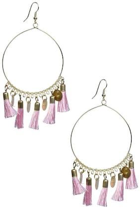GLAMWARS Boho Gypsy  Tassel Earring for girls and women - PINK