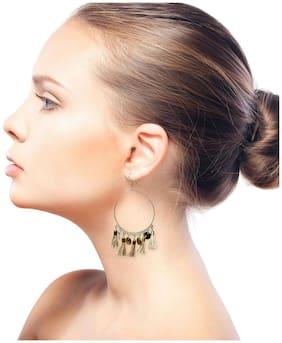 GLAMWARS Boho Gypsy  Tassel Earring for girls and women - BEIGE