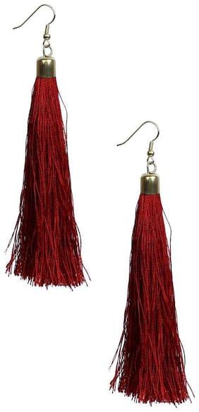 GLAMWARS Boho Gypsy Tassel Earring for girls and women - MAROON