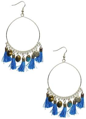 GLAMWARS Boho Gypsy  Tassel Earring for girls and women - BLUE