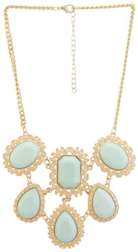 Globus Gold Artificial Stone Necklace