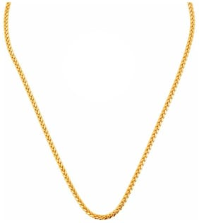 Gold Nera Simple Gold Plated Chain Thin Stylish Basic Style Evergreen Daily Wear Chain For Men