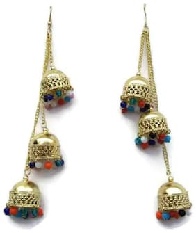 Gold Oxidised silver Daily & Festive - Set of Antique & Layered Earring & Jhumki