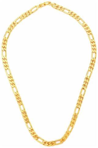 GOLD PLATED designer chain (SACHIN TENDULKAR STYLE) for men in 53.34 cm (21 inch) length
