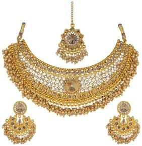 Alloy Gold;White Choker Necklace Set
