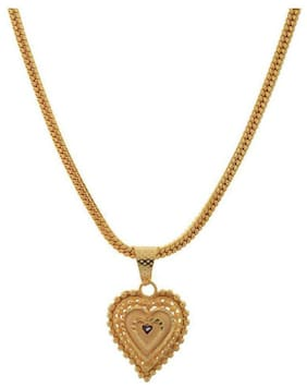 Gold Plated Pendant for Women (Golden) (hk-apg-804) Gold-plated Plated Alloy Chain