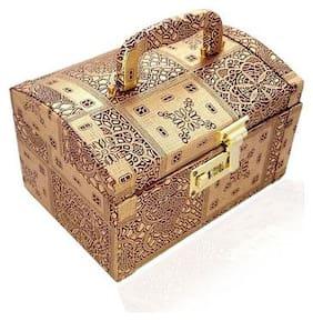 Golde Color Handmade Wooden Womens  Bangles Box , Makup Box, Vanity Box, Jewellery Box By Haryana Craft