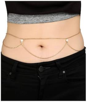 Golden Pearl Fringe Belly Chain