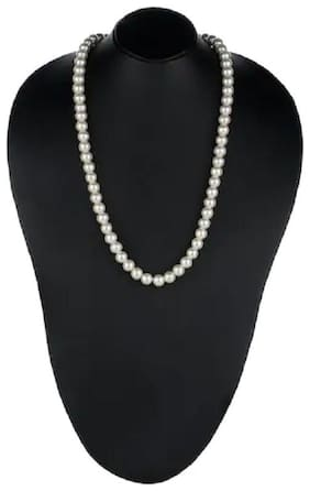Handcrafted Stylish Party Wear Single Line Pearl Strand Statement Necklace/ Mala for Women