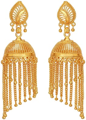 Happy Stoning One Gram Gold Plated Earrings