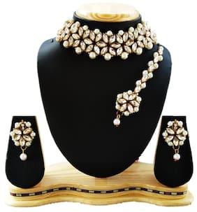 Harita Traditional jewellery Kundan Pearl Necklace/Jewellery Set Choker Set for Women (HANS-HH-9008W)