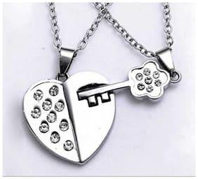 Heart & Key Couple Pendant (2)