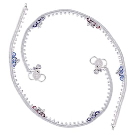 Heer Collection Silver Plated Brass Anklet for Girls & Women (HC1012)