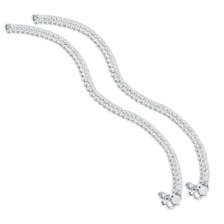 Heer Collection Silver Plated Brass Anklet for Girls & Women (HC1001)
