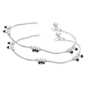 Heer Collection Silver Plated Brass Anklet for Girls & Women (HC1004)