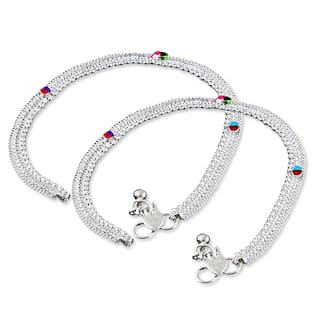 Heer Collection Silver Plated Brass Anklet for Girls & Women (HC1003)
