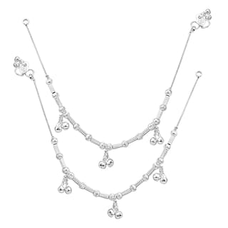 Heer Collection Silver Plated Brass Anklet for Girls & Women (HC1014)