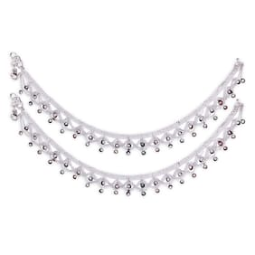 Heer Collection Silver Plated Brass Anklet for Girls & Women (HC2007)