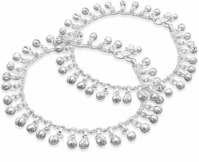 Heer Collection Silver Plated Brass Anklet for Girls & Women (HC2019)