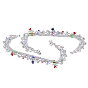 Heer Collection Silver Plated Brass Anklet for Girls & Women (HC2016)