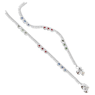 Heer Collection Silver Plated Brass Anklet for Girls & Women (HC1009)