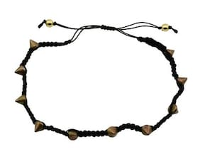 High Trendz Exclusive Black Thread With Copper Beads Single Anklet For Women and Girls