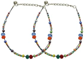 High Trendz Multicolor Fiesta Anklet For Women And Girls