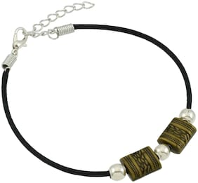 High Trendz Stylish Black Thread Anklet With Charm For Women And Girls